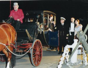 Arriving by carriage